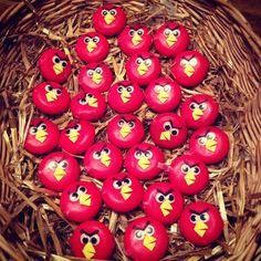 Gezonde traktatie Angry Birds met babybel