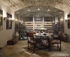 #tuscan #wine #cellar #reclaimed #limestone #flooring #barre #gray #wall #cladding #canada #architectural #stone #decor #home #architecture #interior #design