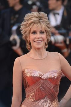Jane Fonda en la alfombra roja del Festival de Cannes el 16 de mayo de 2012.