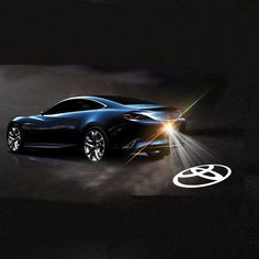 Car Styling Car Tail LOGO Projecting Lamp Car Warning Laser Tail Rear Fog Light Styling Auto Brake Parking Lamp Rearing light