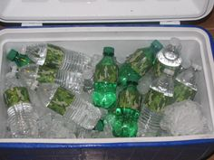 This is drinks for hunting birthday party using camo tape, but you could do it for so many parties with all of the different duct tape designs they have now.