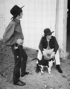 Ringo Starr, John Lennon, cat (Sorry, Ringo , but you were never one of my heros)