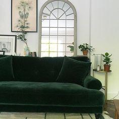 Att Pynta Blanca emerald velvet sofa