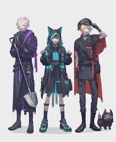 Game Character Design, Fantasy Character Design, Character Design References, Character Design Inspiration, Character Art, Anime Outfits, Mode Outfits, Fantasy Characters, Anime Characters