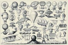 Balloons, airships, and other flying machines designed with some form of propulsion