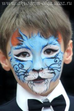 Meow and tie - face painting