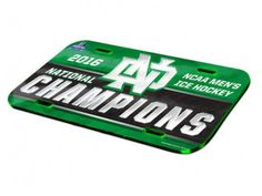 North Dakota Fighting Hawks 2016 Hockey National Champions License Plate Cover