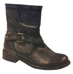 Motorcycle Boots with Buckle