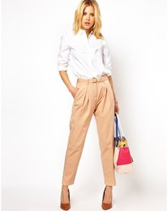 ASOS Peg Trouser in Relaxed Fit, Asos