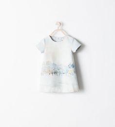 Image 1 of LANDSCAPE PRINT DRESS from Zara