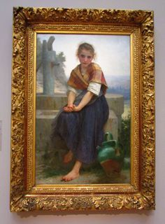 The Broken Pitcher - William Adolphe Bouguereau, 1891, Palace of the Legion of Honor Museum, San Francisco, CA https://legionofhonor.famsf.org