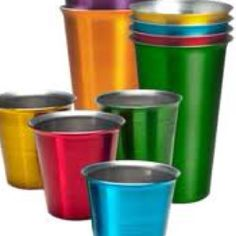 aluminum cups...i bought some a few years ago....didnt really like them