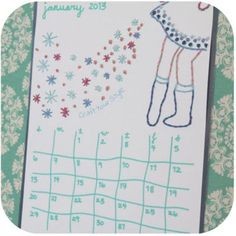 calendar 2013 Free #embroidery pattern