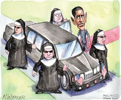 Obama's new secret service agents.  By Matt Wuerker #GoComics #PoliticalCartoon #SecretService #Colombia #Obama