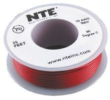 NTE WHS22-02-25 25 Foot 300 VHU 22 AWG Solid Wire (Red) by NTE. $3.54