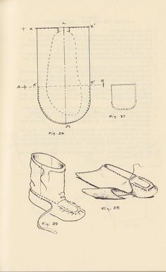 All the Above Patterns are from a great book, Craft Manual of North American  Indian Footwear.  Also if you interested ...