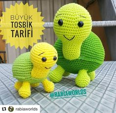We continue to share with you the most beautiful patterns related to Amigurumi. Amigurumi turtle free pattern is waiting for you in this article. Amigurumi Tutorial, Crochet Patterns Amigurumi, Amigurumi Doll, Crochet Toys, Free Crochet, Crochet Sea Creatures, Crochet Animals, Big Turtle, Amigurumi For Beginners
