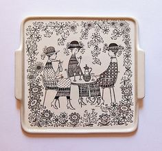 Emilia by Raija Uosikkinen for Arabia Finland - photograph Ray Garrod Ceramic Plates, Ceramic Pottery, Square Tray, Square Plates, Large Plates, Pottery Designs, China Painting, Elegant Homes, Finland
