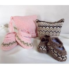 FREE PATTERN...Baby Hat and Booties set, with or without Fair Isle pattern