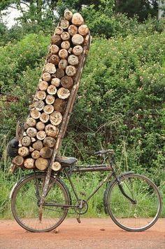 Op de fiets kun je eigenlijk alles meenemen.