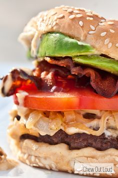 BLT Burger with Roasted Garlic Mayo - Chew Out Loud#more-7800
