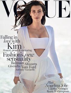 Vogue Australia February 2015 : Kim Kardashian by Gilles Bensimon - the Fashion Spot