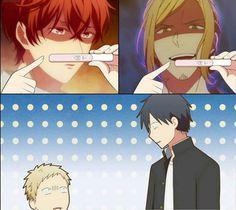 Anime Meme, Otaku Anime, Bakugou Manga, Cute Anime Guys, Cute Anime Couples, Kagami Kuroko, Anime Kawaii, Cute Gay, Fujoshi