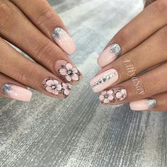 55 Wedding Nail Designs for Your These trendy Nails ideas would gain you amazing compliments. Perfect Nails, Gorgeous Nails, Pretty Nails, Red Nails, Hair And Nails, Wedding Nails Design, Super Nails, Nagel Gel, Flower Nails