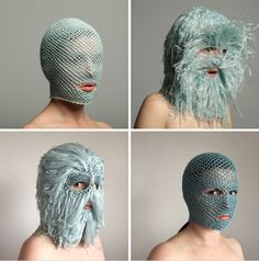 Extravagant Masks by threadstories Offer Cultural Commentary on Selfhood and Social Media Trend Board, Pointed Ears, 3d Fantasy, Colossal Art, Full Face Mask, Conceptual Photography, Private Life, Fashion Mask, Costume Design