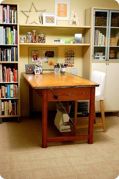 Need tall cabinets for my room. I like the way the cabinets and table are arranged. Would work well in my tiny space.