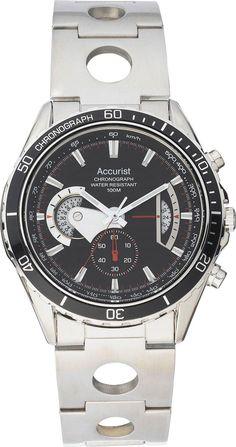 Accurist Men's Black Dial Chronograph Bracelet Watch NOW £39.99 FREE DELIVERY @ Argos on Ebay