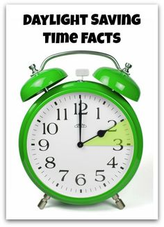 Spring Forward, Fall Back: Daylight Saving Time Facts