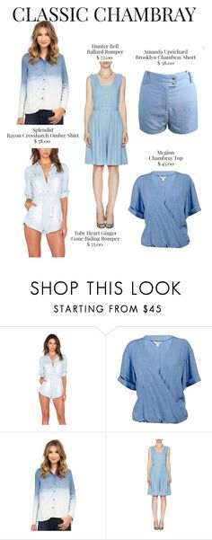 """""""Classic Chambray"""" by mulberrymusefashion ❤ liked on Polyvore featuring McGinn and Amanda Uprichard"""
