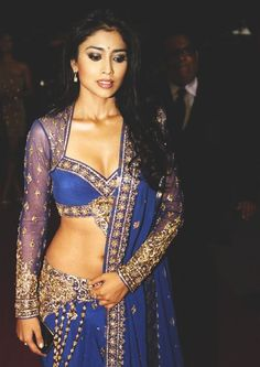 shriya saran actress in sexy bollywood lehnga. South Indian Actress, Beautiful Indian Actress, Bollywood Fashion, Bollywood Actress, Bollywood Celebrities, Indian Dresses, Indian Outfits, Punjabi Girls, Desi Wear
