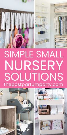 How to Set Up A Baby Nursery in A Small Space - Get nursery organization ideas for creating a nursery in a small space. You can use storage hacks and layout tips to create a beautiful layout, even in a tiny space. Whether you live in a tiny house or are sharing the master bedroom with your baby, get ideas for your small nursery. #smallnursery Small Baby Nursery, Small Space Nursery, Nursery Twins, Nursery Themes, Nursery Room, Nursery Ideas, Nursery Decor, Small Baby Space, Diy Nursery Storage Ideas