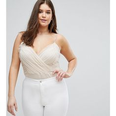 ASOS CURVE Cami Body With Corset Detail featuring polyvore, plus size women's fashion, plus size clothing, plus size intimates, plus size shapewear, pink and plus size