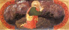 'St Jean à Patmos (Quarate prédelle)', panneau de Paolo Uccello (1397-1475, Italy)