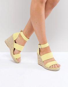 88c8fdbb3ea240 ASOS DESIGN Taffy espadrille wedges Wedge Sandals