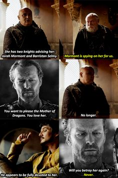 Say what you will about the Friend Zone, Jorah will not betray her