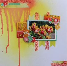 """Scrap Our Stash Challenge: """"Delightful Day"""" Layout by DT Manda"""