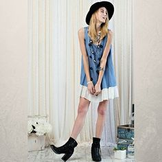 Spring sweet boho hip... whatever you want to call it  Shop @classicpaperdoll ✔check out our Denim Tunic with Ruffle Bottom #cpdfave #cpd #classicpaperdoll #igdaily #instalike #instalove #instagood #likeforlike #followforfollow #fashion #인스타스타일 #옷스타그램 #데일리 #일상 #인스타그램