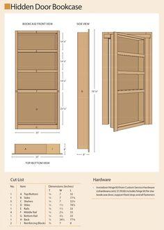 Hidden Bookshelf Door, Hidden Doors In Walls, Bookcase Door, Secret Rooms In Houses, Murphy Door, Secret Storage, Hidden Storage, Gun Rooms, Safe Room