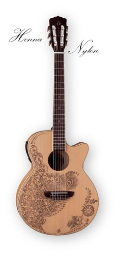 Luna Guitars Oasis nylon string, Henna series.