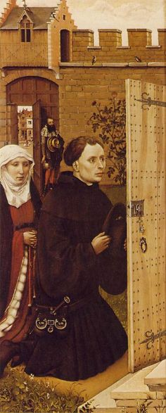 Robert Campin Merode Altarpiece (left wing)