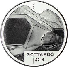 20 Franken Silber Gottardo PP