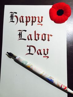 Happy Labor Day to you! (Noodler's Ink: Black Swan in English Roses)