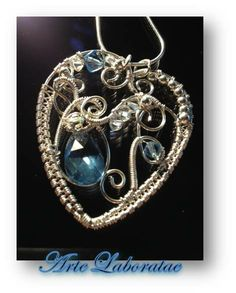 Christmas Love, Silver wrapped pendant - by Arte Laboratae - Katalin KB Walcott