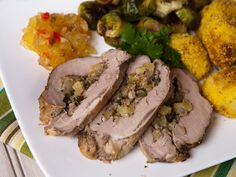 Apple Stuffed Pork Tenderloin