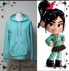 Vanellope Hoodie from Wreck it Ralph. Brynns favorite character right now. she would rather dress up as Vanellope than a princess Disney Halloween, Holidays Halloween, Halloween Outfits, Happy Halloween, Halloween Party, Halloween Costumes, Halloween Clothes, Halloween 2014, Halloween Ideas