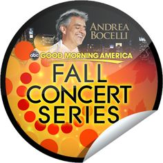 Andrea Bocelli on GMA on December 6!